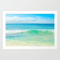 Ocean Blue Beach Dreams Art Print