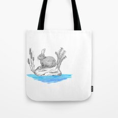 Rabbit in an island Tote Bag