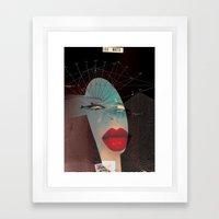 les mots... Framed Art Print