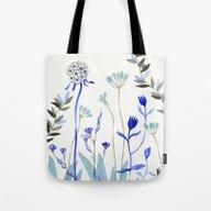 Blue Garden Tote Bag