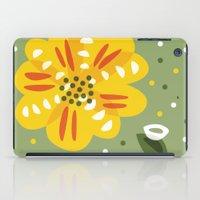 Abstract Yellow Primrose Flower iPad Case
