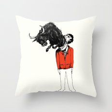 what is likely to happen when one is full of bull Throw Pillow