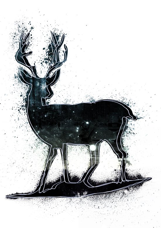 Universal Woodlands Deer Art Print