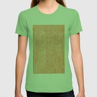 Stockinette Orange Womens Fitted Tee Grass SMALL