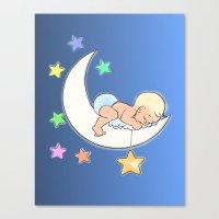 Moon baby Canvas Print