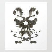 Inkblot Skull Art Print