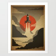The Voyage (Grey) Art Print