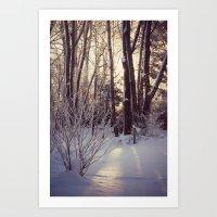 Wind Blown Snow Flakes Art Print