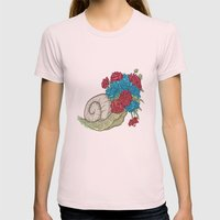 Snail Womens Fitted Tee Light Pink SMALL