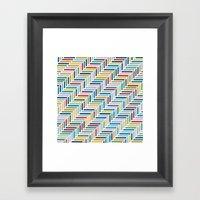 Herringbone 45 Colour Framed Art Print