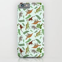 Dinosaurs & Leaves iPhone 6 Slim Case