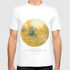 Forsythia White Mens Fitted Tee SMALL