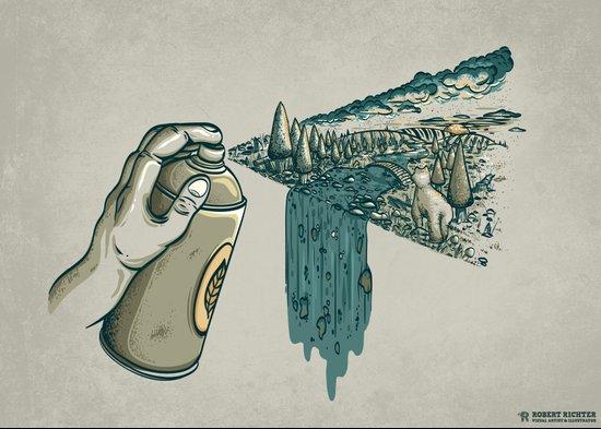 Nature Can Art Print