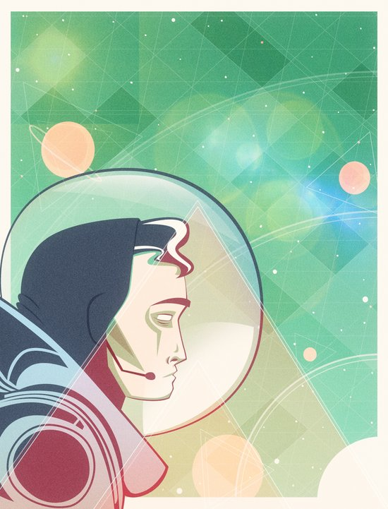 Star Man Art Print