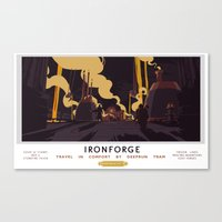 Ironforge Classic Rail Poster Canvas Print