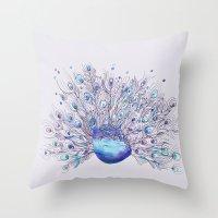 Glory Days - Purple Throw Pillow