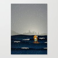 Cicily to The Sea Canvas Print