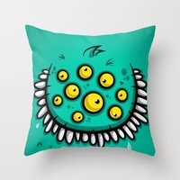 FUNNY EYEBALLS Throw Pillow