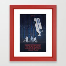 Stranger Things fan art Framed Art Print