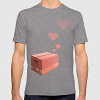 Love Box Mens Fitted Tee Tri-Grey SMALL