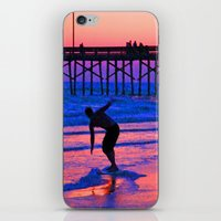 Neon Skimboarder iPhone & iPod Skin