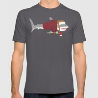 Shark LumberJack Mens Fitted Tee Asphalt SMALL