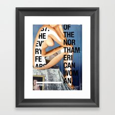 The North American Woman Framed Art Print