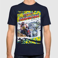 Super Hang-On Mens Fitted Tee Navy SMALL