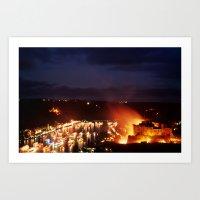 Rhine in Flames 1 Art Print