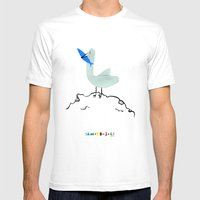 Gavina Seagull Mens Fitted Tee White SMALL