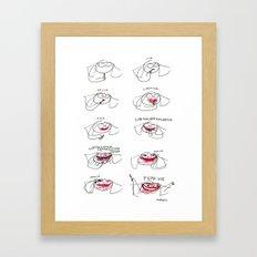 fear me Framed Art Print