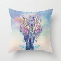 Spirit Animal - Elephant Throw Pillow