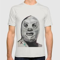 Santo  Mens Fitted Tee Silver SMALL