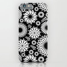 Black and white flowers iPhone 6s Slim Case