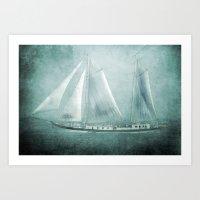 I am sailing Art Print