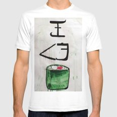 I love sushi !  Mens Fitted Tee White SMALL