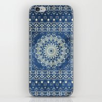Old Bookshop Magic Mandala in Blue iPhone & iPod Skin