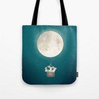 moon bunnies Tote Bag