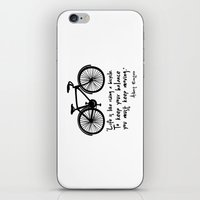 Life Is Like Riding A Bi… iPhone & iPod Skin