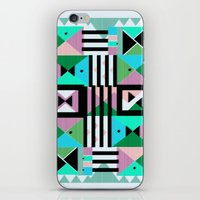 Blue Triangulation iPhone & iPod Skin