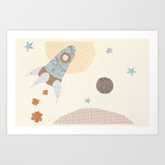 spaceship collage Art Print