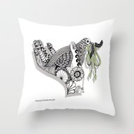 Zentangle Illustration -… Throw Pillow