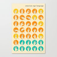 Canvas Print featuring AMERICAN SIGN LANGUAGE H… by Jazzberry Blue