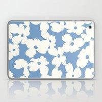 Dogwood Floral Print: Sky Blue Laptop & iPad Skin