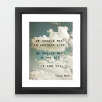 Sylvia: Air Framed Art Print