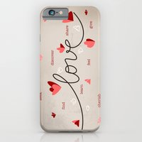 Love, Butterfly Hearts & Text Unique Valentine iPhone 6 Slim Case