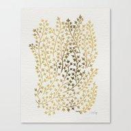 Gold Ivy Canvas Print