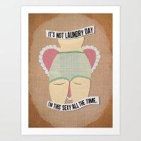 Laundry Daze Art Print