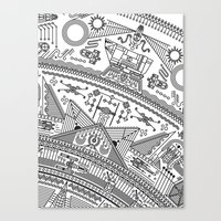 Four - Version 2 (with details) Canvas Print