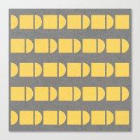 Yellow and grey fun Canvas Print